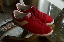 Vintage Pony Shoes Breakdance Old Skool Skate shoes Red Suede 10.5