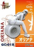 ZLPLA Genuine 1/24 Resin Figure Oriana Girls in Action Assembly Model Kit GC-015