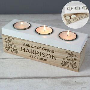 Personalised Candle Tea Light Holder Housewarming Gift Couple Valentines Wedding