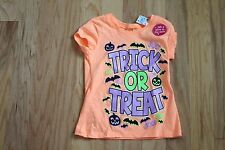 NWT Justice Orange Trick or Treat Boo Top Glow in the Dark Size 5