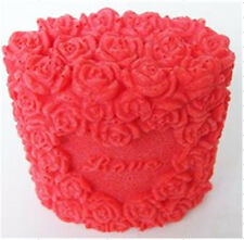 Nicole Custom Rose Flower Handmade Silicone Candle Molds Decorative Soap Mould