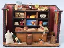 GERMAN MINIATURE SCALE DOLLHOUSE GENERAL STORE Room Box Antique Vintage