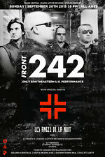 FRONT 242 2015 SALT LAKE CONCERT TOUR POSTER-EBM,Techno,Belgium Electronic Music