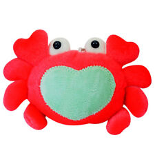 Red Crab Heart Soft Plush Stuffed Animal Keychain Suction Cup Cute Toy New 3""