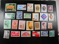 MIXED LOT VINTAGE WORLD POSTAL POSTAGE STAMPS GREECE POLAND DOMINICA SPAIN CHILE