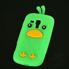 Samsung Galaxy S Duos S7562 Silikon Case Schutz Hülle Etui Chicken Cover Grün 3D