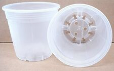 Clear Plastic Pot for Orchids 6 inch Diameter - Quantity 2