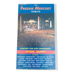 the Freddie Mercury tribute VHS double cassette 1992 Bowie Metallica Daltrey VGC