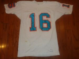 1970s MIAMI DOLPHINS USED VINTAGE LARGE CHAMPION DURENE FOOTBALL JERSEY GAME L