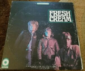"1967 CREAM - Fresh Cream ATCO Stereo ERIC CLAPTON Debut Album ""I FEEL FREE"" LP"