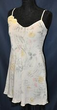 Apostrophe Nightie S 6-8 Short Nightgown PJ White Gray Pink Poems gown