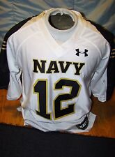 UNDER ARMOUR UNITED STATES NAVAL ACADEMY USNA NAVY WHITE FOOTBALL JERSEY SMALL