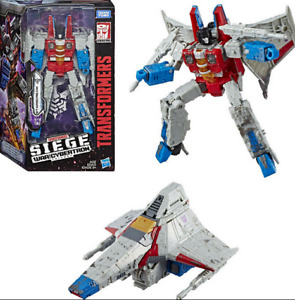 Transformers STARSCREAM FIGURE Voyager Class Siege: War For Cybertron in stoc