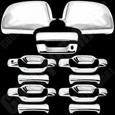 For GMC Canyon 2004-2011 Chrome Covers Set 4 Door Handle, Tailgate Cover, Mirror
