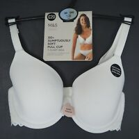 BNWT M&S Marks & Spencer  DD+ Soft Full Cup Wired T-Shirt Bra in White size 30DD