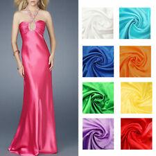 Silky Satin Fabric Plain Dress Material 140cm Wide Wedding Prom Cosplay Evening