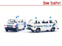 Roco H0 2520 Set Polizei Schweden Polis Stockholm VW T3 + VW T4 Polizeiauto
