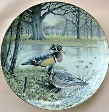 Living with Nature : 7 Jenner's Ducks Collector Plates Coa & Box