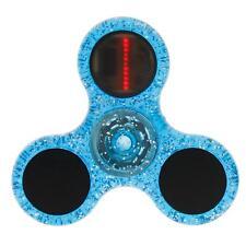 LED Flash Letters Light Crystal Fidget Hand Spinner Finger Toy Focus Gyro Gift