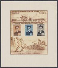 Albania Sc 393a MNG. 1947 Qemal Stafa Death Anniversary Souvenir Sheet