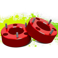 "PAIR 3""FRONT UP MOUNT LEVELING LIFT SPACERS KIT FOR 07-17 SILVERADO/SIERRA RED"
