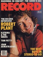 Record August 1985 Madonna, Robert Plant, Tom Petty 050617nonDBE