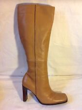 Oasis Brown Knee High Leather Boots Size 37