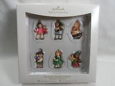 2007 Hallmark Keepsake Ornament Joy To The World Children Miniature Set 6 Nation