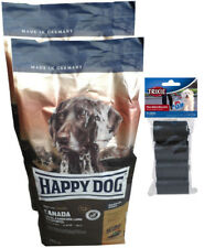 2x12,5kg Happy Dog CANADA Supreme Sensible Hundefutter + 80 Stk. Kotbeutel