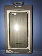 "Jack Spade NY Wood Case for iPhone 6Plus & 6sPlus 5.5"" Wood Veneer Silver Oak"