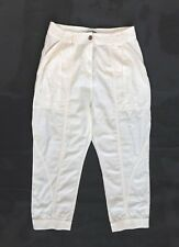 PennyBlack Penny Womens Capri Pants Ivory Cropped Trousers Size UK10 42 S Cotton