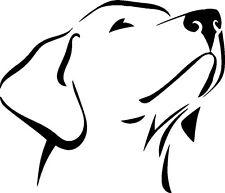 Labrador Retriever Vinyl dog Decal Hood/Door/window