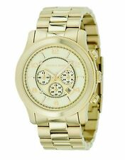 Gold Michael Kors Runway Chronograph MK8077 Wrist Watch for Men (Gently Used)