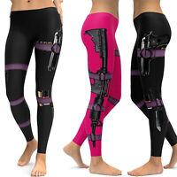 Women Yoga Leggings 3D Print Sport Legging Pant Gym High Waist Fitness Trousers