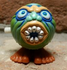 Vtg 1988 Soma Madballs Wind-Up Toy Green Vampire Monster Ugly Weird Ball ko bl 2