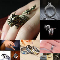 Alloy Silver Dragon Claw Ring Men Domineering Personality Jewelry Opening Rings