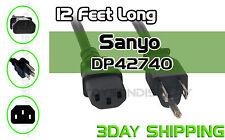 New 12Ft Sanyo DP42740 Power Cord Cable Plug