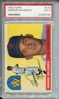 1955 '55 Topps Baseball #124 Harmon Killebrew Rookie Card RC Graded EX 5