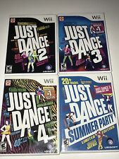 Just Dance 2, 3, 4 & Summer Party Nintendo Wii  - 3 Of 4 Complete with Manuals