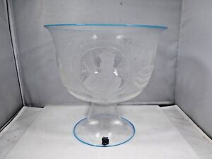ITALIAN MURANO CENEDESE HAND BLOWN ETCHED BOWL