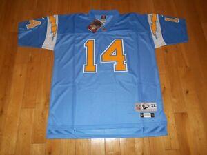 New Reebok Dan Fouts 1982 SAN DIEGO CHARGERS Mens NFL Team Stitched JERSEY Sz XL