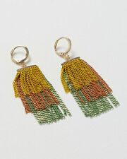 Oliver Bonas Women Dorian Bar & Tassel Drop Earrings