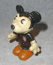 """CAST IRON MICKEY MOUSE FIGURINE STATUE MOVABLE ARMS 3 1/8"""" TALL"""