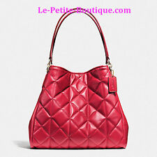 COACH PHOEBE QUILTED LEATHER HOBO SHOULDER BAG HANDBAG CLASSIC RED F36696