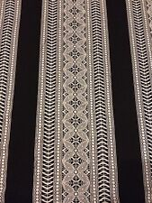 "Patterned JERSEY LYCRA Bodycon Dance Dress Fabric Material 60"" width Black/White"