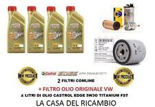 KIT TAGLIANDO FILTRI + 4L CASTROL EDGE 5W30 VW GOLF 7 VII 1.4 TGI 110CV GNC