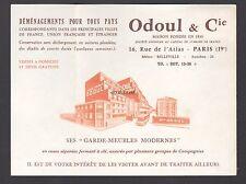 Publicité  ODOUL & Cie  Gardes  Meubles Déménagement vintage print ad  1930 - 3j
