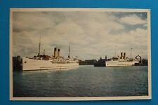 Schweden Sverige Sweden AK Trelleborg 1957 Hamnparti Harbour Passenger Ships
