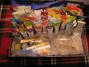 Vintage Artex Roll On Embroidery Paint Lot of 55+ Glitter, Carry Case + Extra's