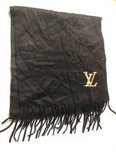LOUIS VUITTON Echarpe Jerome M71280 Noir Scarf Cashmere100% 400788 AUTHENTIC